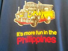 JEEPNEY Fun in the Philippines blue graphic XL t shirt
