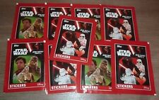 Vignettes no Panini STAR WARS Stickers - Lot de 9 Paquets