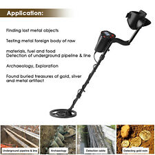 Pro Lcd Metal Detector Gold Digger Hunter Waterproof Deep Sensitive Search Coil