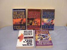 Lot of 5 WILLIAM SHATNER - Science Fiction Adventure -1st 3 TEKWAR pbs FREE SHIP