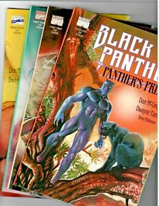Black Panther Panther's Prey #'s 1,2,3 & 4 Marvel 1991 Full Story Set in NM+ !