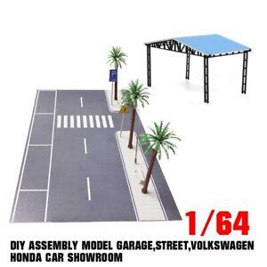 1/64 DIY assembly model Garage,street,Volkswagen Honda car showroom New