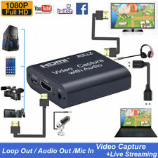 HDMI to USB2.0 Video Capture Digtal Card Facebook Streaming 1080P Live Audio Mic
