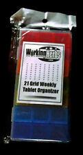 Multicolor 7Day weekly Pill Organizer 3x daily Portable Travel Case Medicine Box
