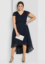 Sheego Abendkleid Gr.48+50+52+54+56+58 Kleid Knielang Maxikleid Cocktailkleid bl