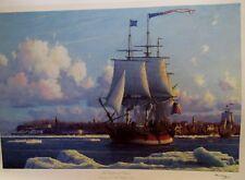 "RAMOND MASSEY ""EMPRESS OF CHINA "" LEAVING NEW YORK 1784 COA -55/250"
