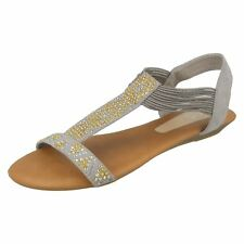 Ladies Spot On Flat 'Sandals'