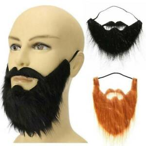 Black Fake Beard Costume Party Mustache Moustache Halloween Pirate Cosplay DIY