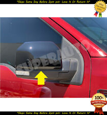 For 2015-2019 Ford F-150 2pcs FULL Glossy BLACK Mirror Cover Cap Covers F150