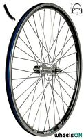 QR 26 inch wheelsON Rear Wheel 8/9/10 Spd Cassette 36H Black Rim Silver Spokes