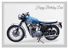 Stunning Birthday Card Men - Unusual Unique Motorbike - Triumph Trophy - Dad