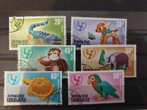 Togo 1971 25th Anniv of UNICEF. 6 stamp set used
