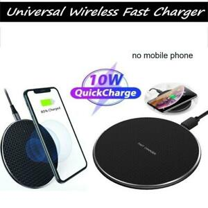 Qi Wireless Fast Charger Charging Pad Dock for iPhone Samsung Android  Phone new