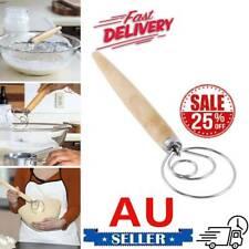 "Original Danish Dough Whisk - LARGE 13.5"" Stainless Steel Dutch Whisk AU"