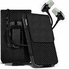 Carbon Fibre Belt Pouch Holster Case & Handsfree For Xiaomi Redmi Note 4G