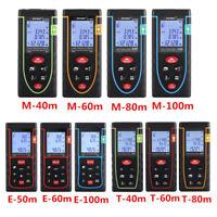 40M-100M Digital Laser Distance Meter Measurer Area Volume Range Finder Measure