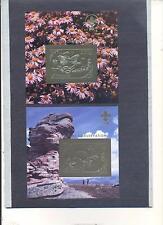 MONGOLIA 1993, Butterflies, Turtle, 2SS (gold+silver), MNH**(23)