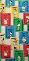"""Peanuts Snoopy Charlie Brown 1965 Schultz Curtain Panel Fabric 40"""" x 70"""" Vintage"""