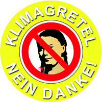 Greta Aufkleber Klimagretel Fridays for Tuning Hubraum Auto Aufkleber d192