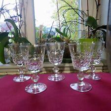 5 verres a eau en cristal de lorraine modèle écaille