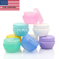 US STOCK 15/120pcs 30g 50g Empty Plastic Cosmetic Lip blam Jars Cream Containers