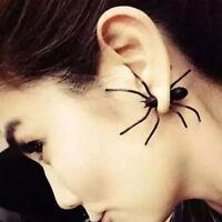 Schwarz Spider Ohrstecker Spinne Tarantel Ohrringe Herren Damen Halloween Schmuc