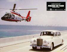 JAMES BOND 007 LICENCE TO KILL 1989 VINTAGE LOBBY CARD #16 ROLL ROYCE