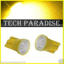 1x Ampoule T10 / W5W / W3W LED COB 3W 12 Chip Jaune Yellow veilleuse lampe light
