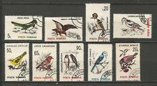 1993 oiseaux Roumanie 9 timbres anciens oblitérés /T4345