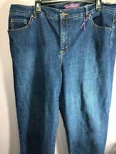 Gloria Vanderbilt Plus Size 18W Jeans Denim Dark Wash Bootcut High Rise ZO32
