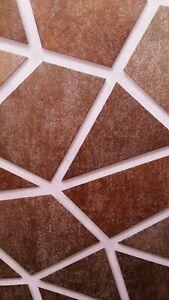 Gold/Bronze, Large Geometric/Metallic Hammered/Textured Wallpaper