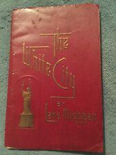 1893 Columbian Expo Chicago THE WHITE CITY by LAKE MICHIGAN Albertype Souvenir
