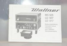 Manual Wallner MC 505 + LD 507 + LD 517