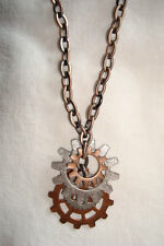Steampunk Gear Pendant Chain Necklace