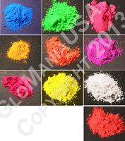UV Black Light Visible 8OZ Pigment Powder, Neon, UV Reactive, Fluorescent