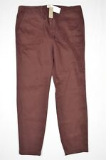 NEW J.Crew Size 32 Maroon Red Skinny Stretch Cargo Ankle Casual Pants