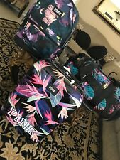 VICTORIAS SECRET PINK 3PC  LUGGAGE BACKPACK DUFFLE WHEELIE TRAVEL CARRYON NWT