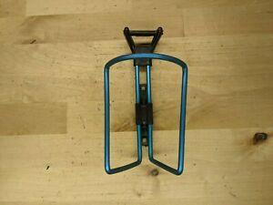 VTG blue Aluminum Plastic Water Bottle Cage Black Holder H3