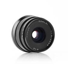 Zonlai 22mm f1.8 Manual Lens large Aperture for Fuji X-mount Mirrorless Black