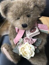 """Boyds Bears Ima Grateful 14"""" Fully Jointed Teddy Bear with Roses Thanks Bunches"""