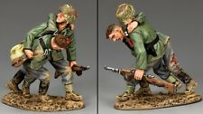 KING & COUNTRY WW2 GERMAN ARMY WH046 BATTLEFIELD RESCUE MIB