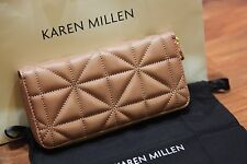 Karen Millen Quilted Leather Purse  Nude BNWT