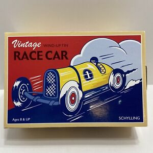 Race Car Wind Up Tin #1 Indy Car w/ Driver by Schylling - Vintage Style - No Key