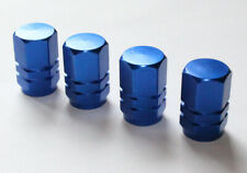 Valve Caps Set of 4 Aluminium Dust Cap for Auto Schrader Valve Brand New Blue