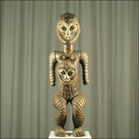 59000) Afrikanische Baga Holz Figur Guinea Afrika KUNST