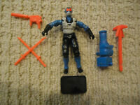 Vintage GI Joe Snake Eyes (V4) 1991 Hasbro Action Figure w/Guns, Swords, Stand