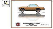 """Coffee Mug 1967 - 1971 Mercedes-Benz 280 SL """"Pagode"""" gold, Guy Golsteyn"""