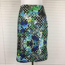 PORTMANS Sz 16 Skirt  Multicolored Floral Big Zip Through Pencil Shaped Lining