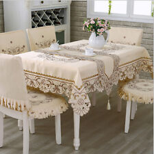 Europe Polyester Tablecloths Embroidered Table Runner Square Floral Table Cover