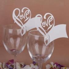 50x Segnaposto matrimonio Segnabicchiere, forma di cuore e amore 50 pezzi